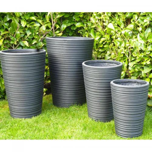 Harlaxton Pot Set of 3 in Stone