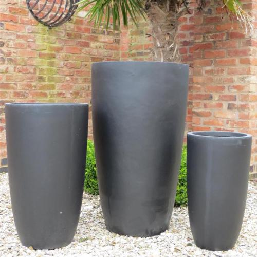 Long Bennington Pot Set of 3 in Black