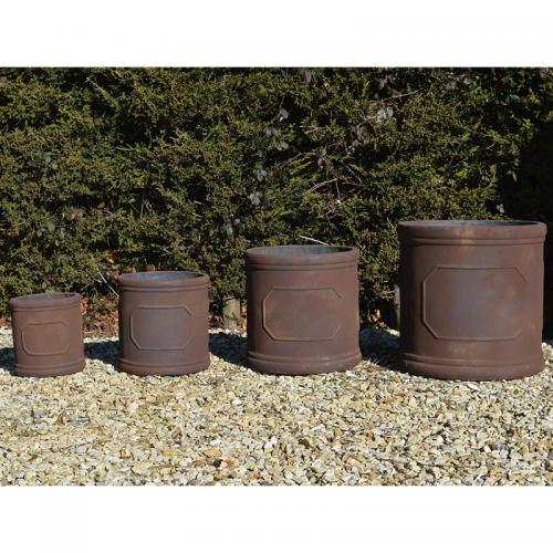 The Leicester Pot Planter in Rust - Set of 4